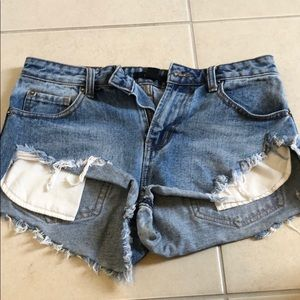 Forever 21 jean ripped shorts